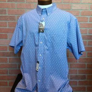 Cremieux shirt 2X Big Tall 2XB 2XT Blue (3Y23-24)